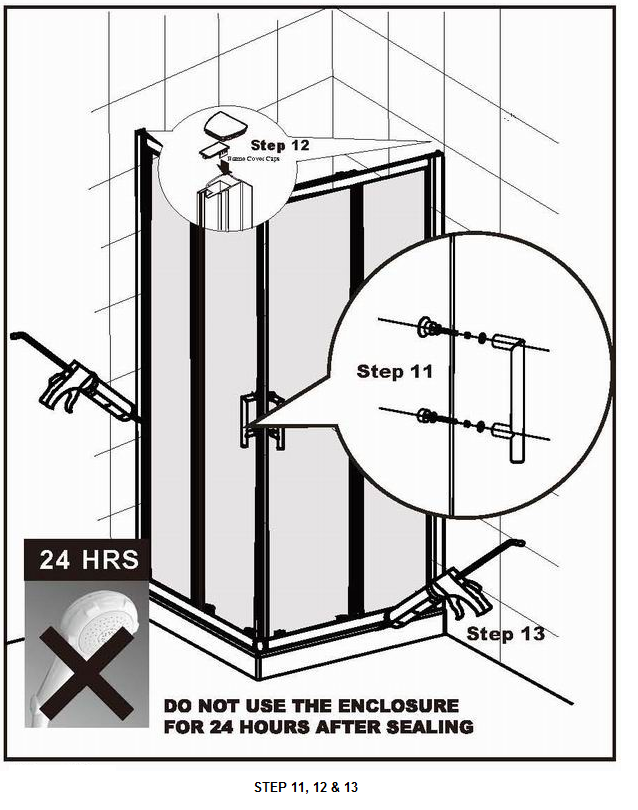 How to fit a Shower Door Steps 11 12 and 13