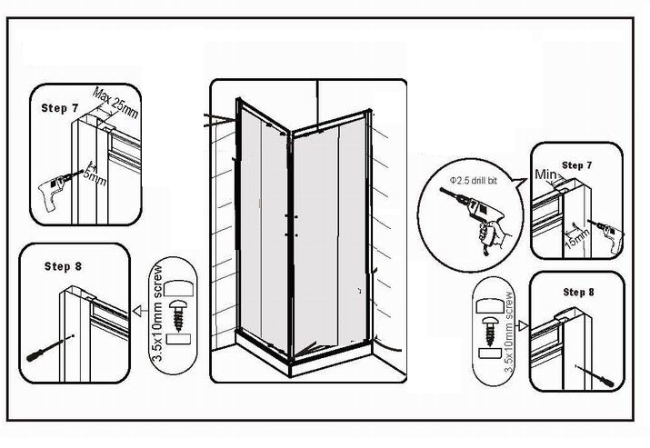 How to Fit a Shower Door Step 7 and 8