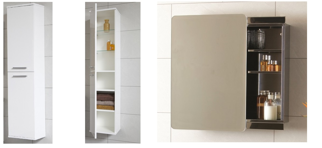 wall hung storage and bathroom cabinet