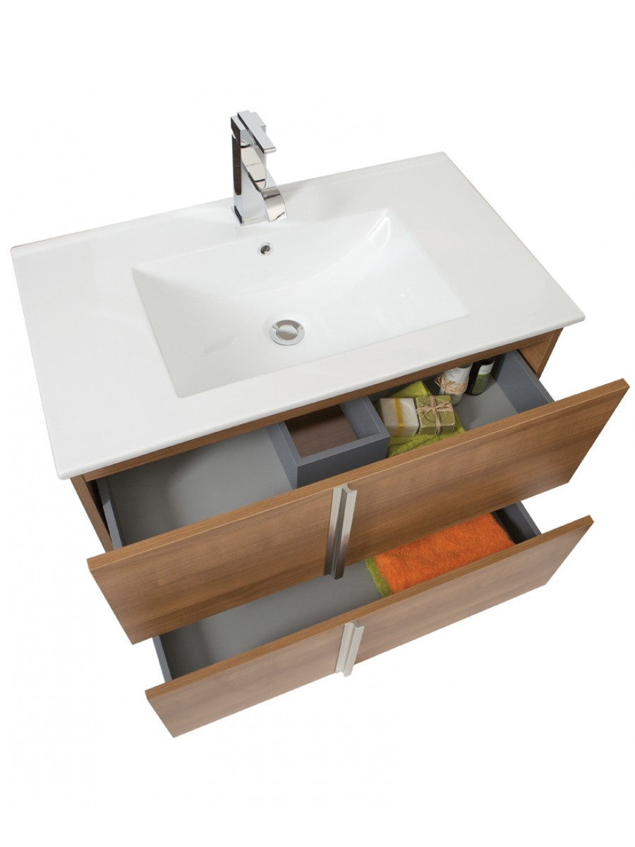 athena walnut storage vanity unit