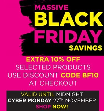 Black Friday Deals - Extra 10% Off with BF10