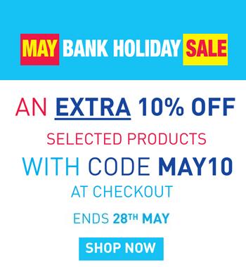 May Bank Holiday - Extra 10% Off with MAY10
