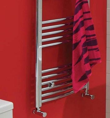 Curved Heated Towel Rails