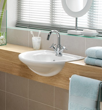 Semi Recessed Wash Basins