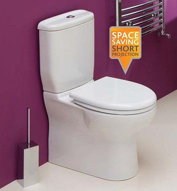 Space saver toilets toilets for small bathroom spaces bath shower for Space saving toilets small bathroom