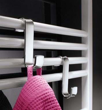Straight White Heated Towel Rails