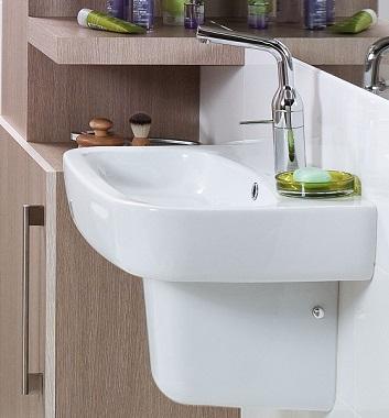 Wash Basin with Semi Pedestal