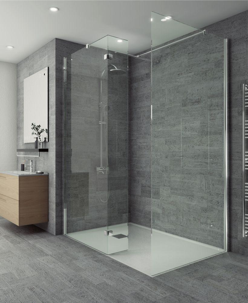 Salon Range 300mm Wetroom Fixed Return Panel