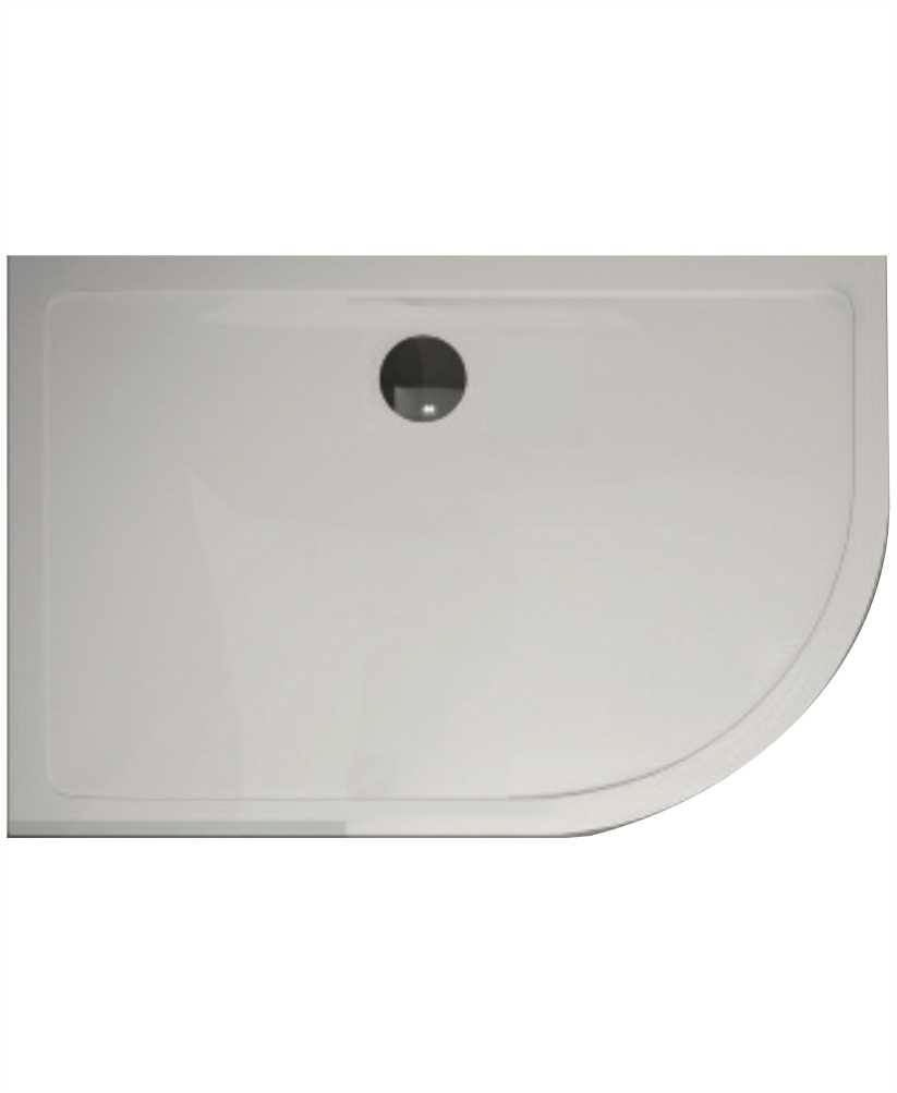 The Plane 25 mm 1200X900 Offset Quadrant RH Slimline Shower Tray And Free 90 mm Waste