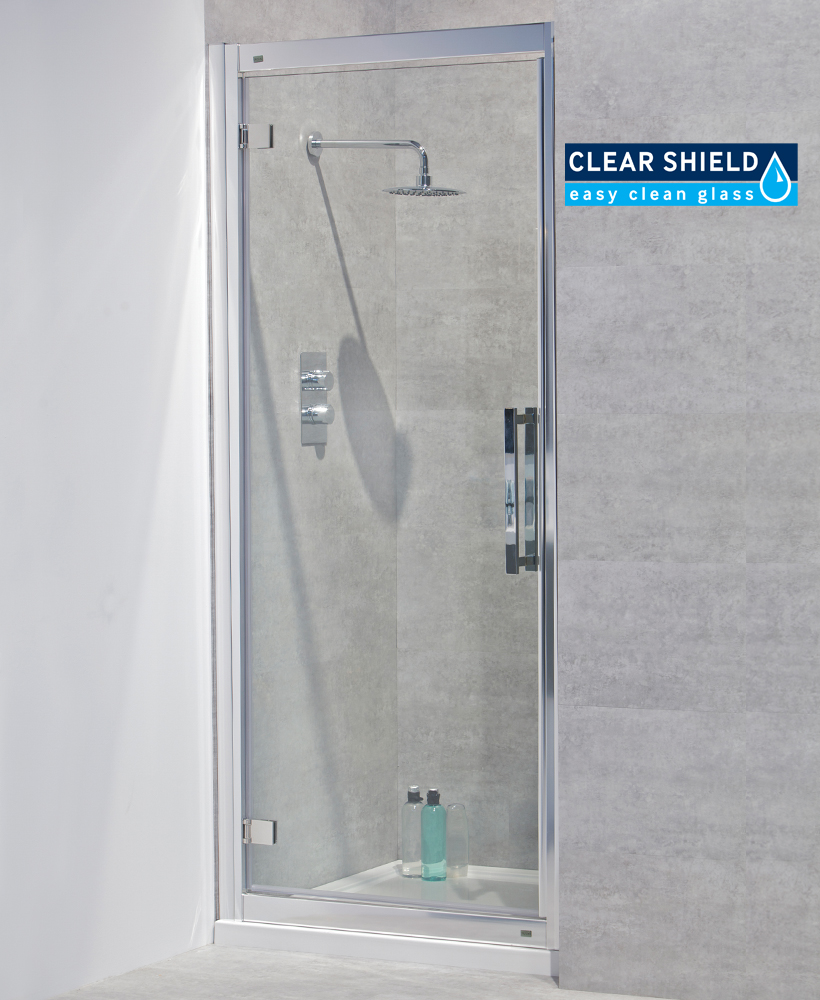 Avante 8mm 760 Hinged Shower Door - Adjustment 700-760mm