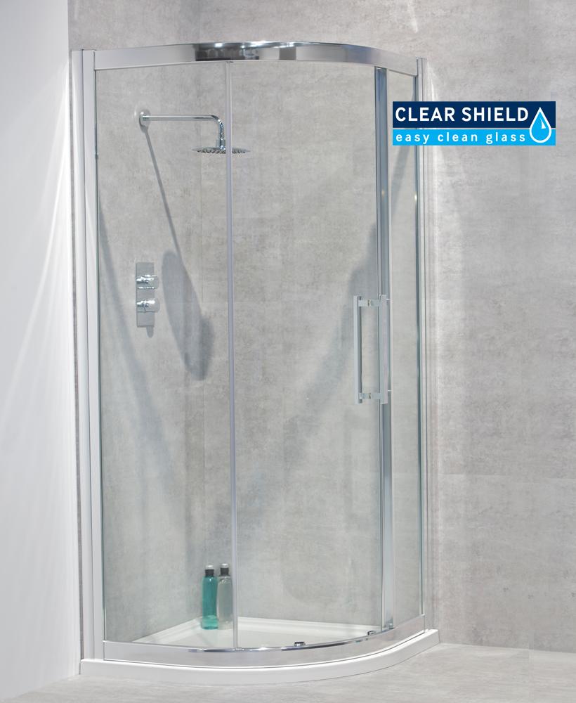 Avante 8mm 900 Quadrant Single Shower Door - Adjustment 850-880mm