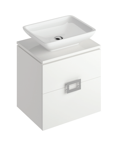Ava White 55 cm Wall Hung Vanity Unit and AIMEE Countertop Basin **A further 10% off with code BF10 at checkout