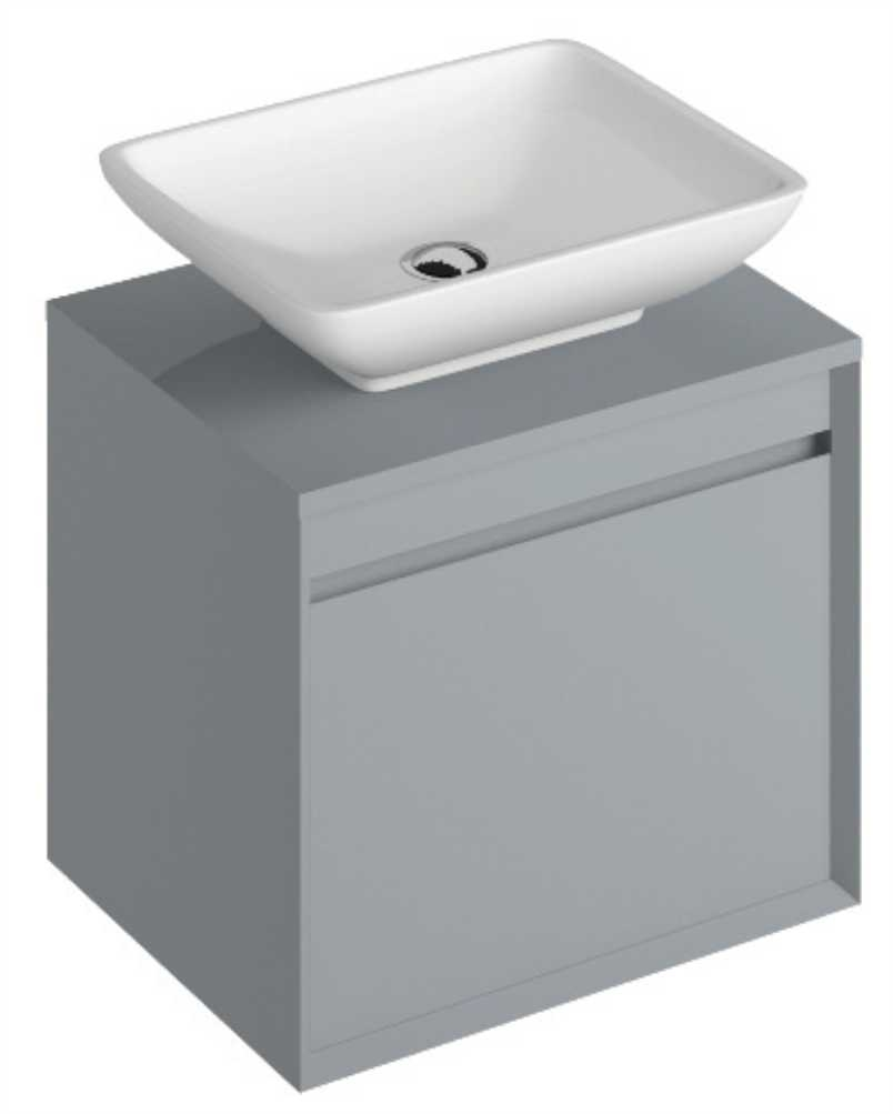 Regine 55cm Base Unit Pearl Grey & Aimee Basin
