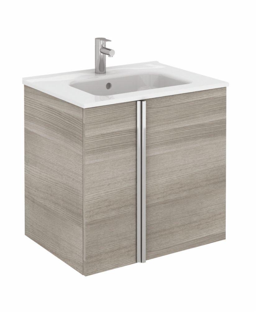 Athena 60cm Sandy Grey Vanity Unit with SLIM Basin - Doors