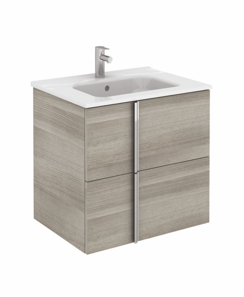 Athena 60cm Sandy Grey Vanity Unit with SLIM Basin - Drawers