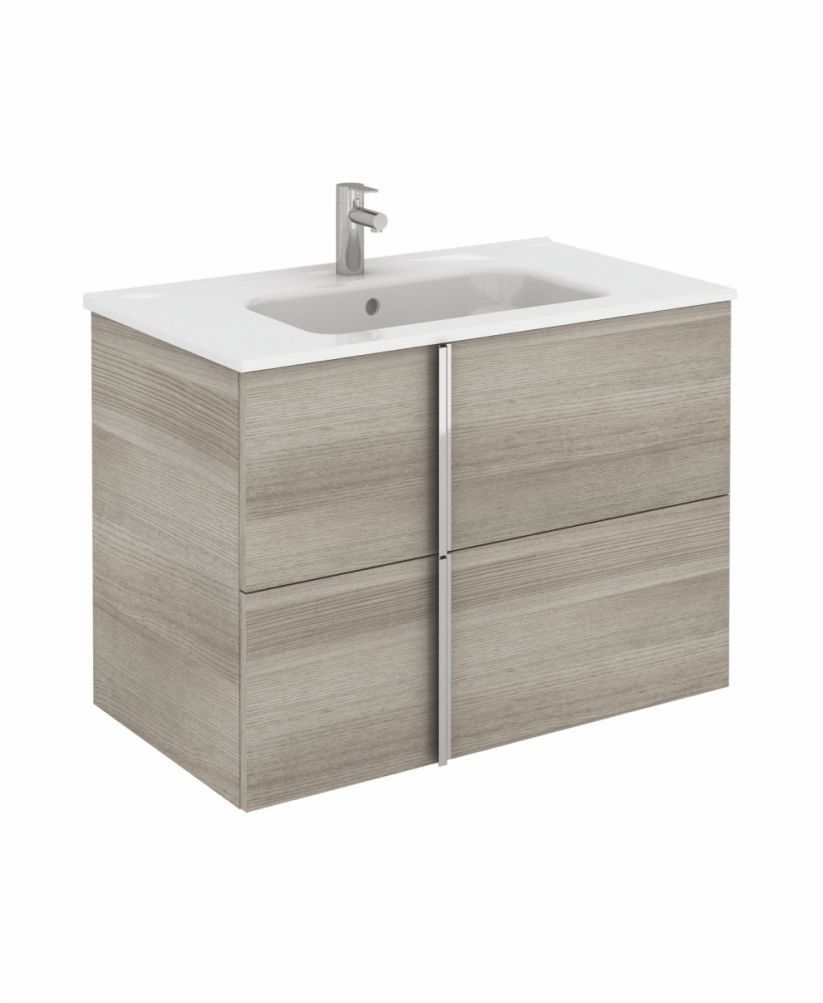 Athena 80cm Sandy Grey Vanity Unit with SLIM Basin - Drawers