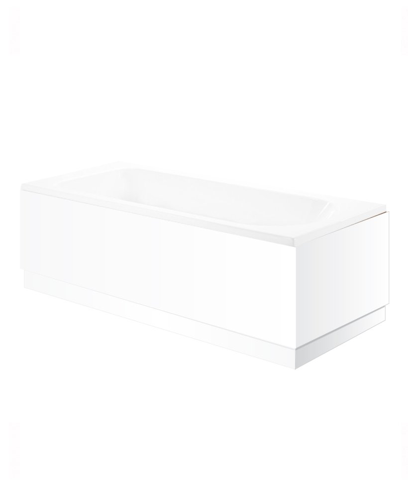 Blanco 800mm End Bath Panel