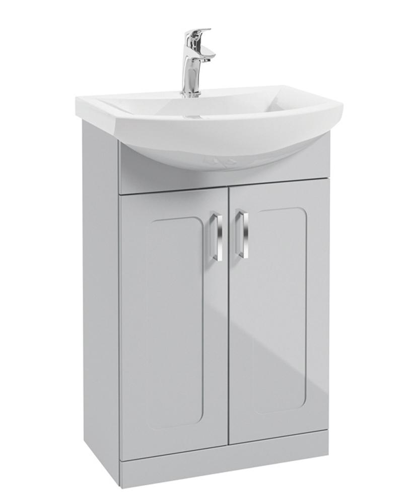 Barna 55cm Cool Grey Vanity Unit & Basin