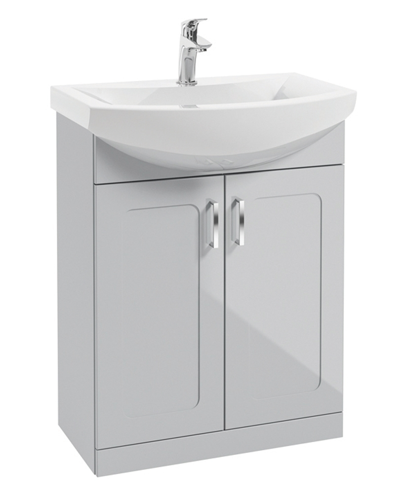 Barna 65cm Cool Grey Vanity Unit & Basin