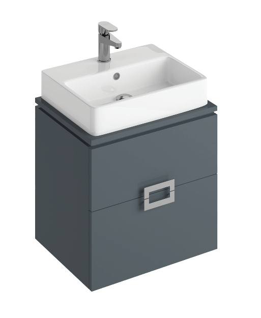 Ava 55cm  Base Unit Antracite and Brook Basin