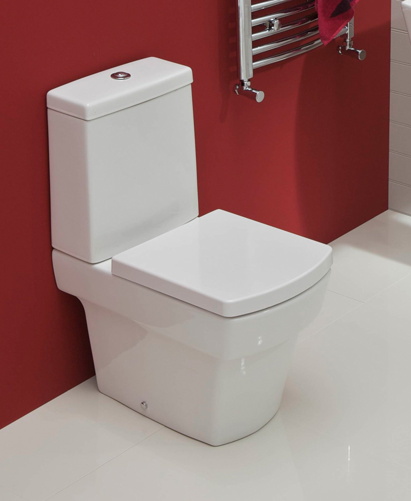 Cubo Close Coupled Toilet & Soft Close Seat