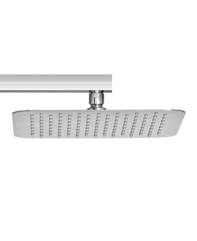 Caria Square 250 Shower Head & 500 Luxary Wall Shower Arm - Ultra Thin