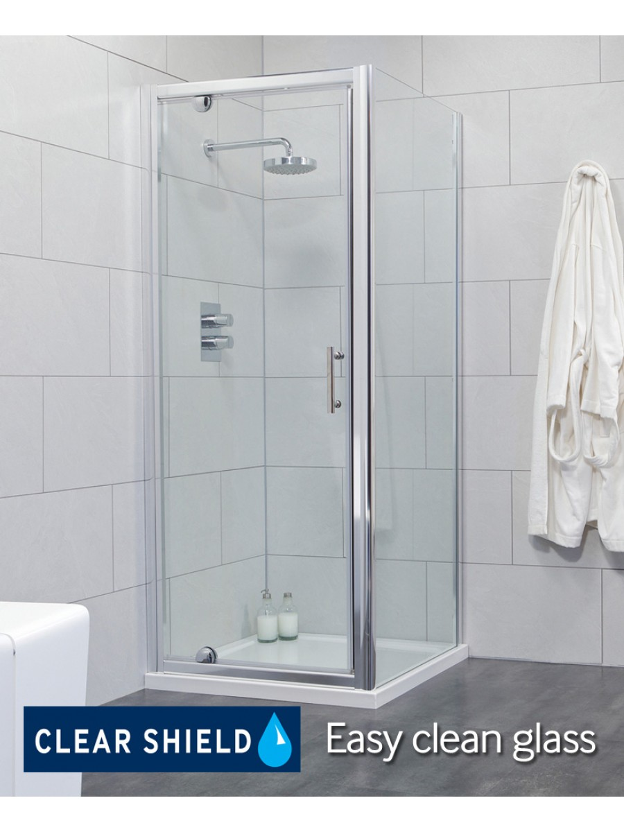 Cello 760 x 760mm Pivot Shower Door - includes 760mm side panel