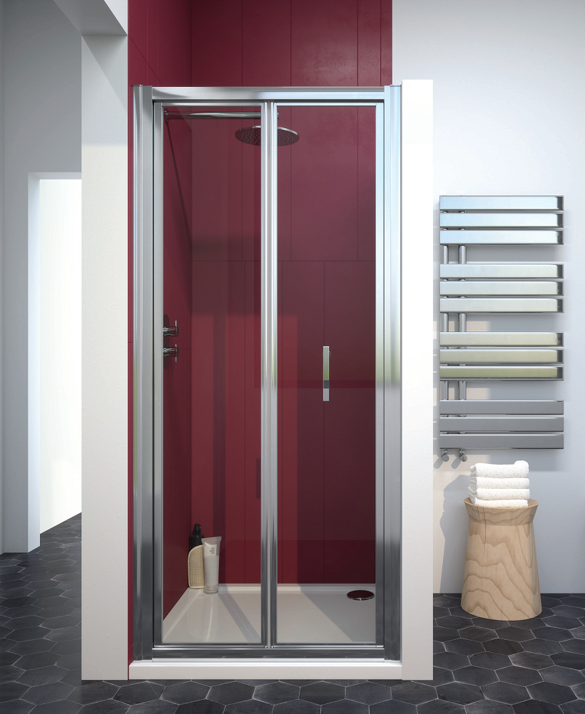 Cello Plus 900 Bifold Shower Door, Adjustment 840 - 890mm