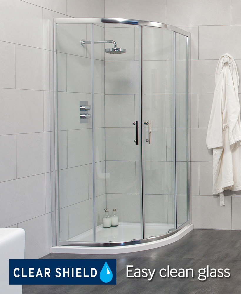 Cello 800 Quadrant and JT Ultracast Shower Tray
