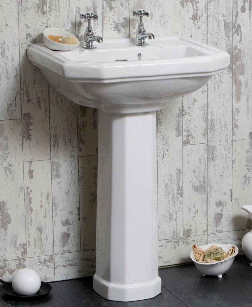 Twyford Clarice Basin 58cm & Pedestal (2TH)
