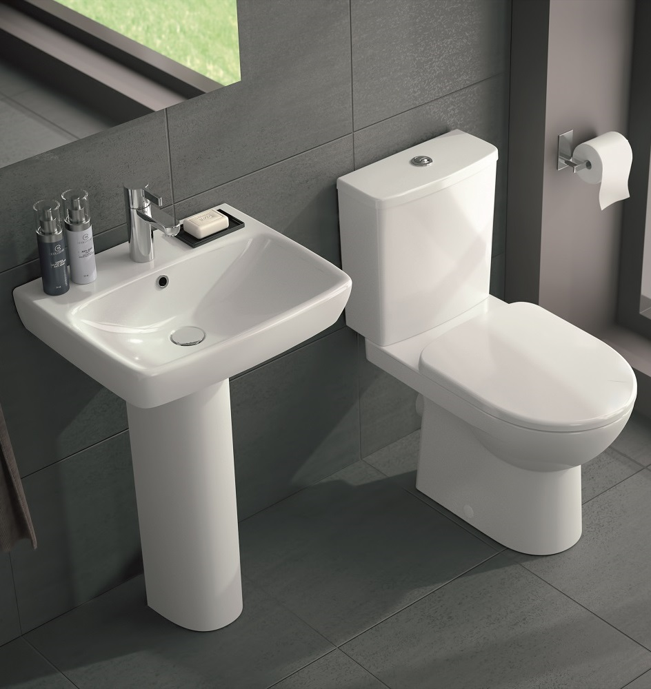 Twyford E100 Square Premium Toilet and Wash Basin Set