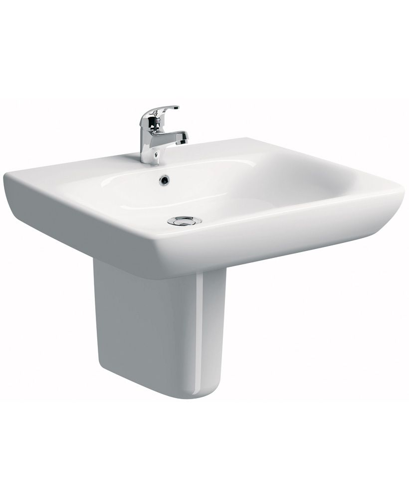 Twyford E100 Comfort 650 Basin & Semi Pedestal - ** SPECIAL ORDER