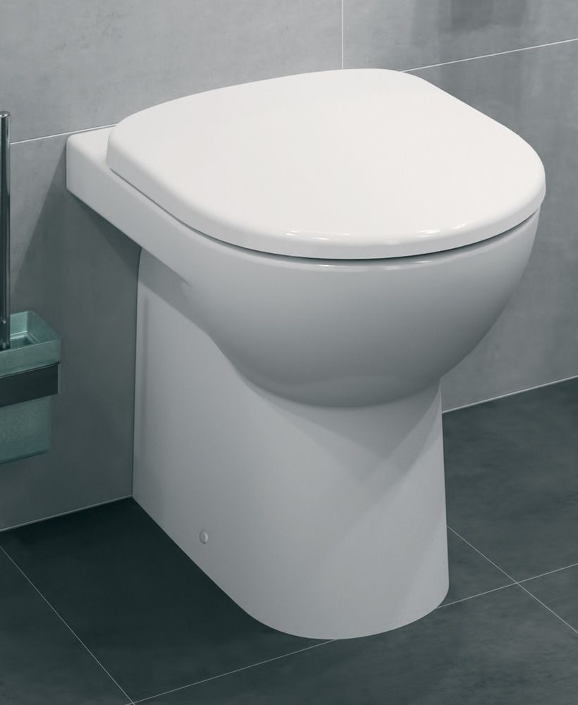 Twyford E100 Round Back To Wall Toilet & Standard Seat