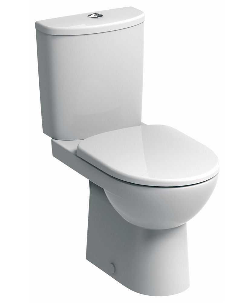 Twyford E100 Round Close Coupled Premium Toilet & Soft Close Seat