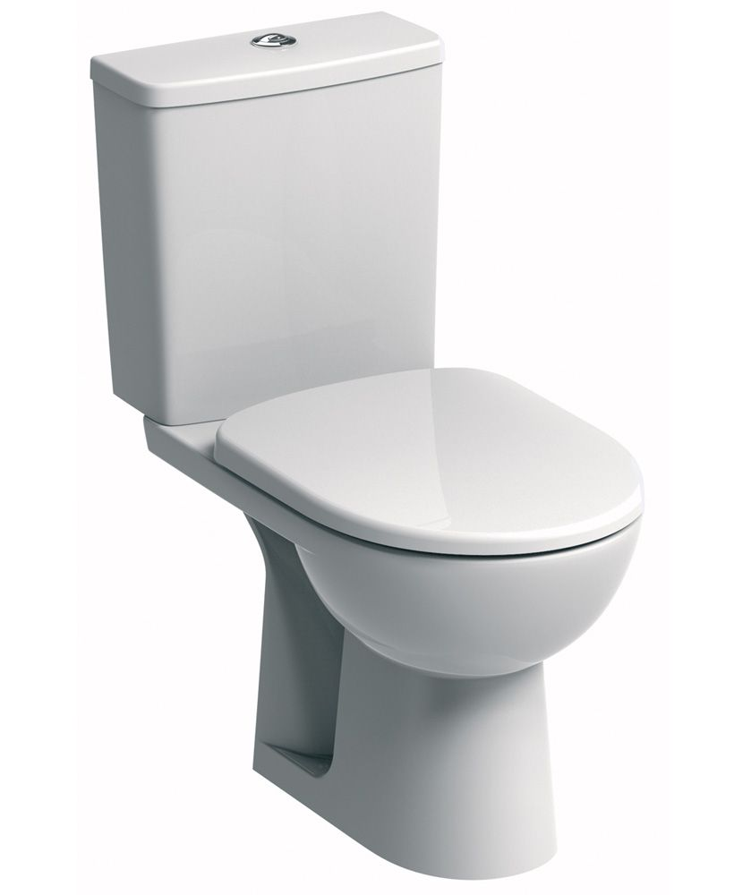 Twyford E100 Square Standard Close Coupled Toilet & Standard Seat **FURTHER REDUCTIONS