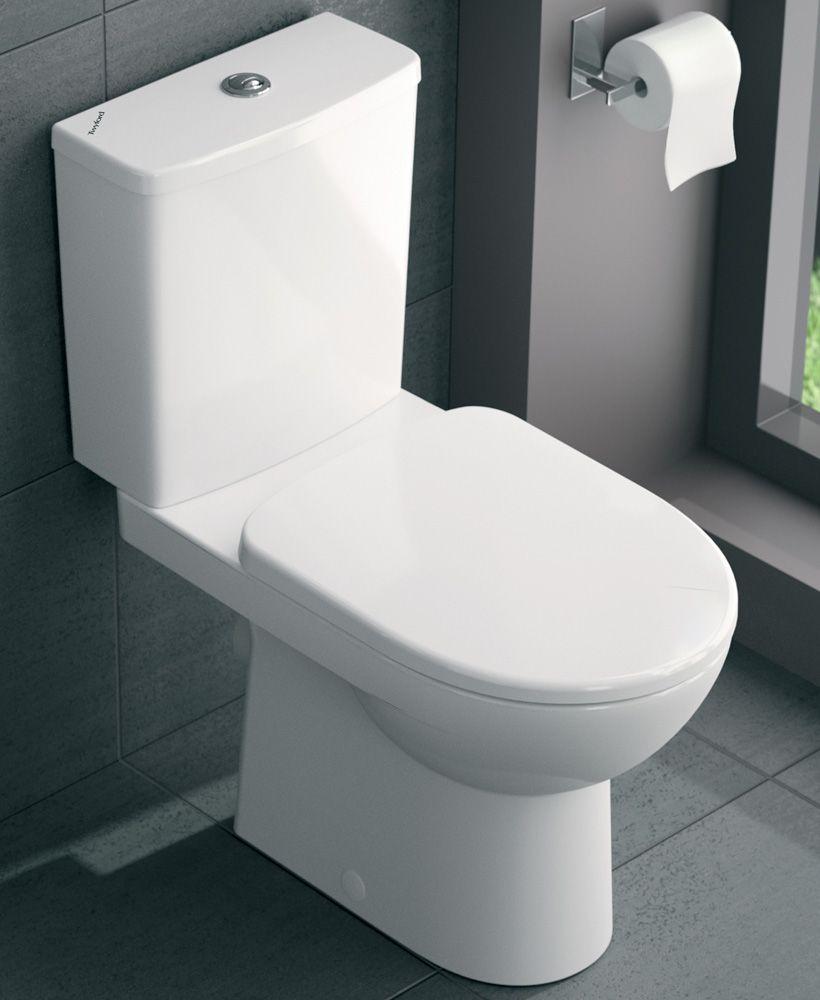 Twyford E100 Square Close Coupled Premium Toilet & Soft Close Seat
