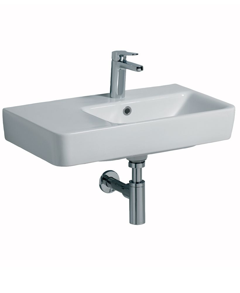 Twyford E200 650 Basin LH Shelf