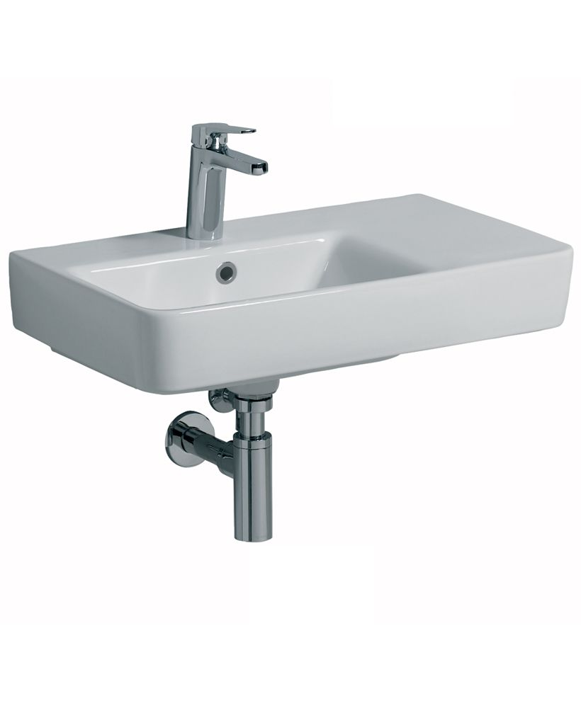 Twyford E200 650 Basin RH Shelf