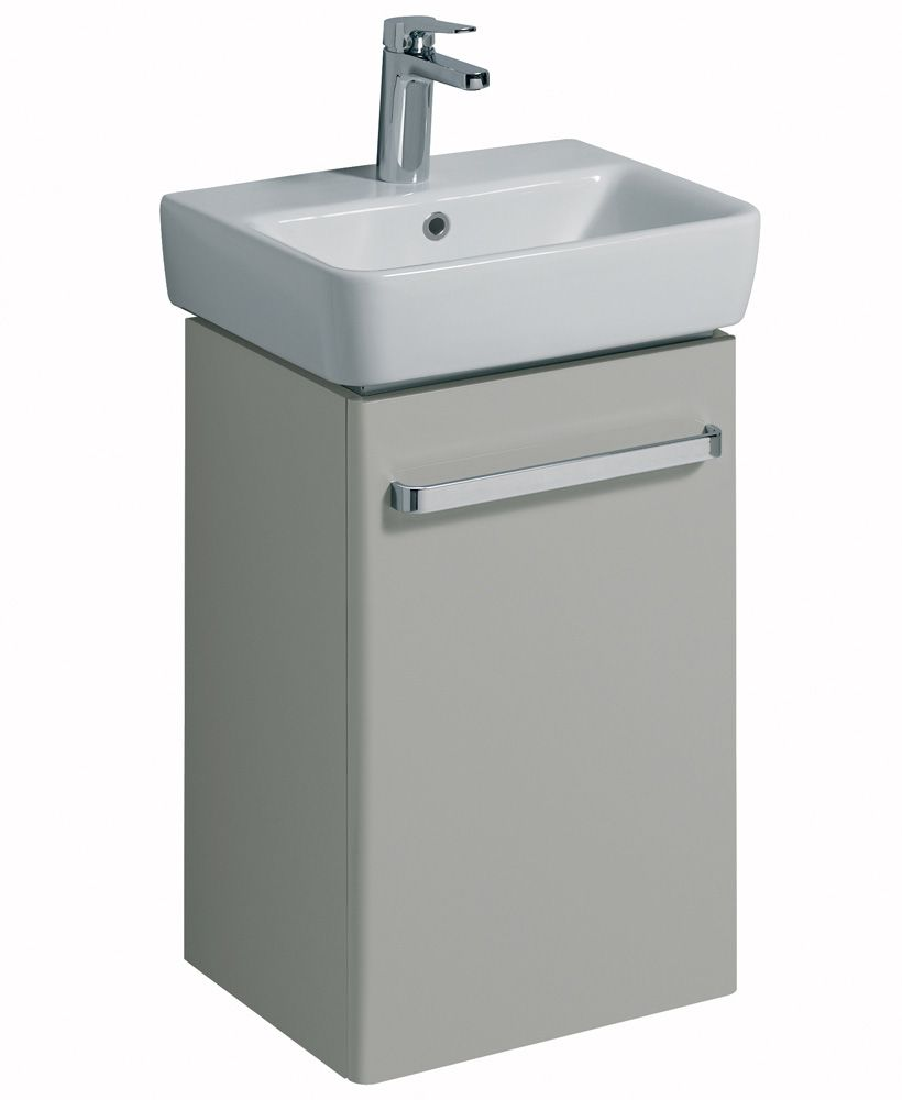 Twyford E200 450 Grey Vanity Unit Wall Hung