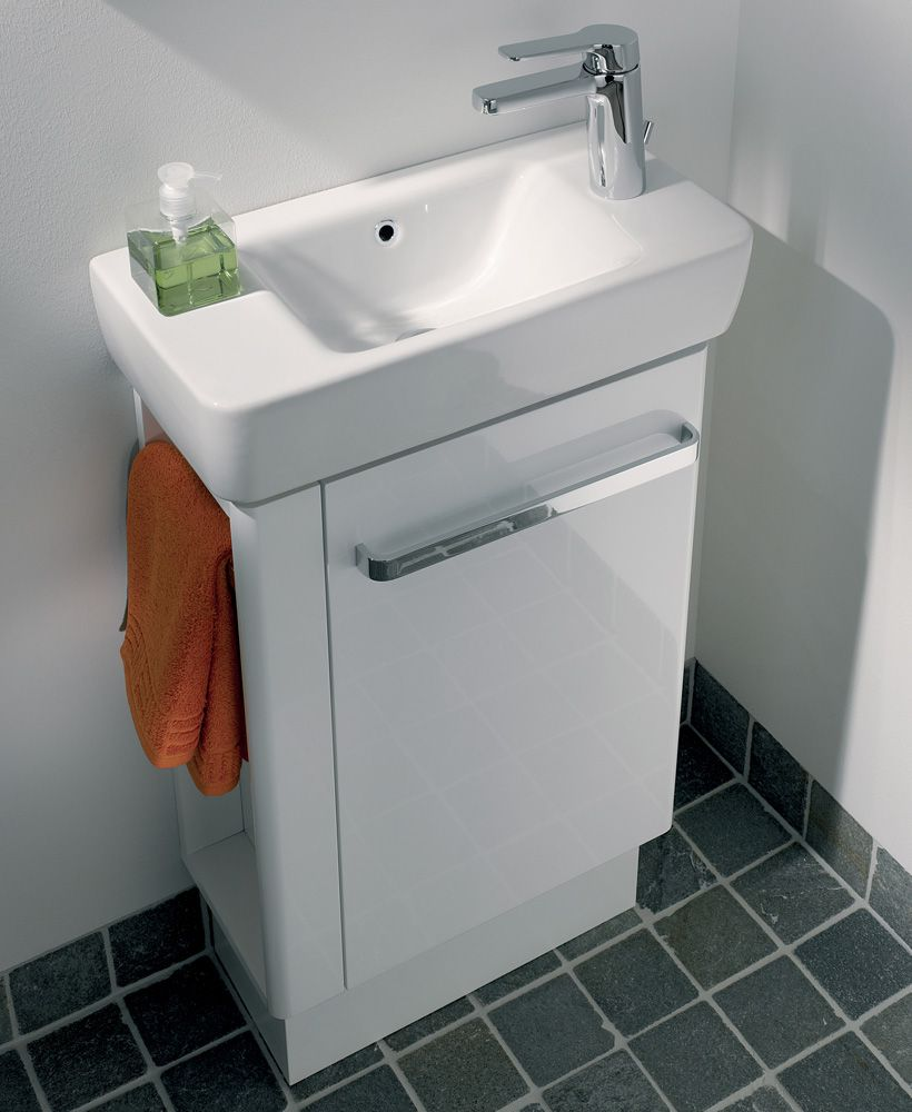 Twyford E200 500 White Vanity Unit Floor Standing