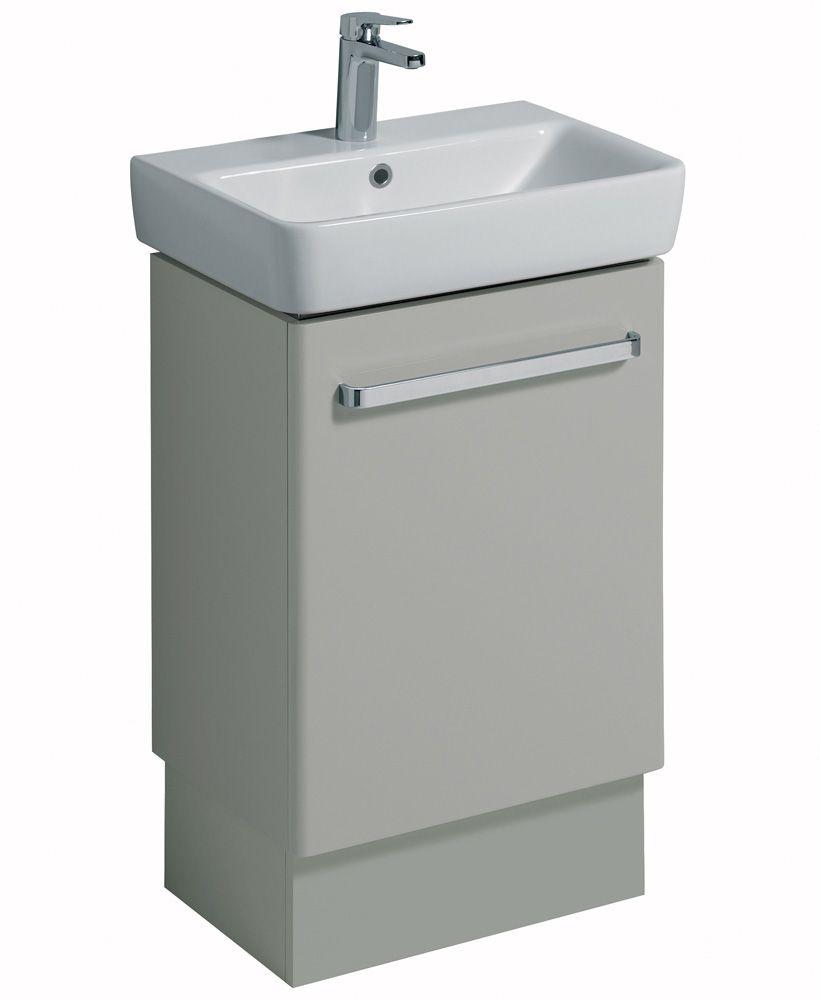 Twyford E200 550 Grey Vanity Unit Floor Standing