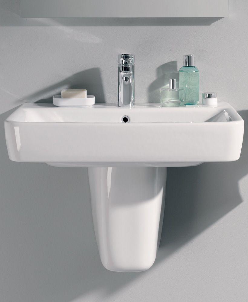 Twyford E200  600 Basin & Semi Pedestal