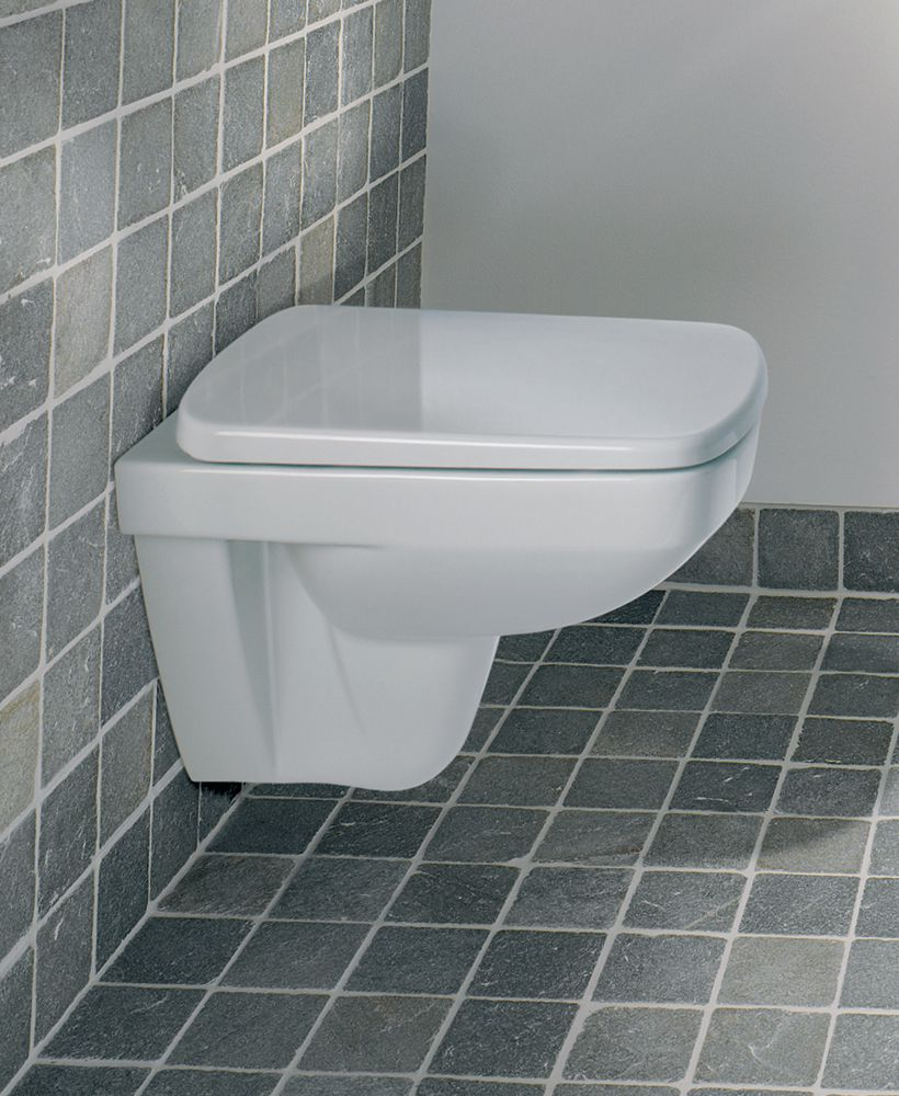 Twyford E200 Space Saver Wall Hung Toilet & Standard Seat - Short Projection 480mm ** an extra 10% off with code EASTER10