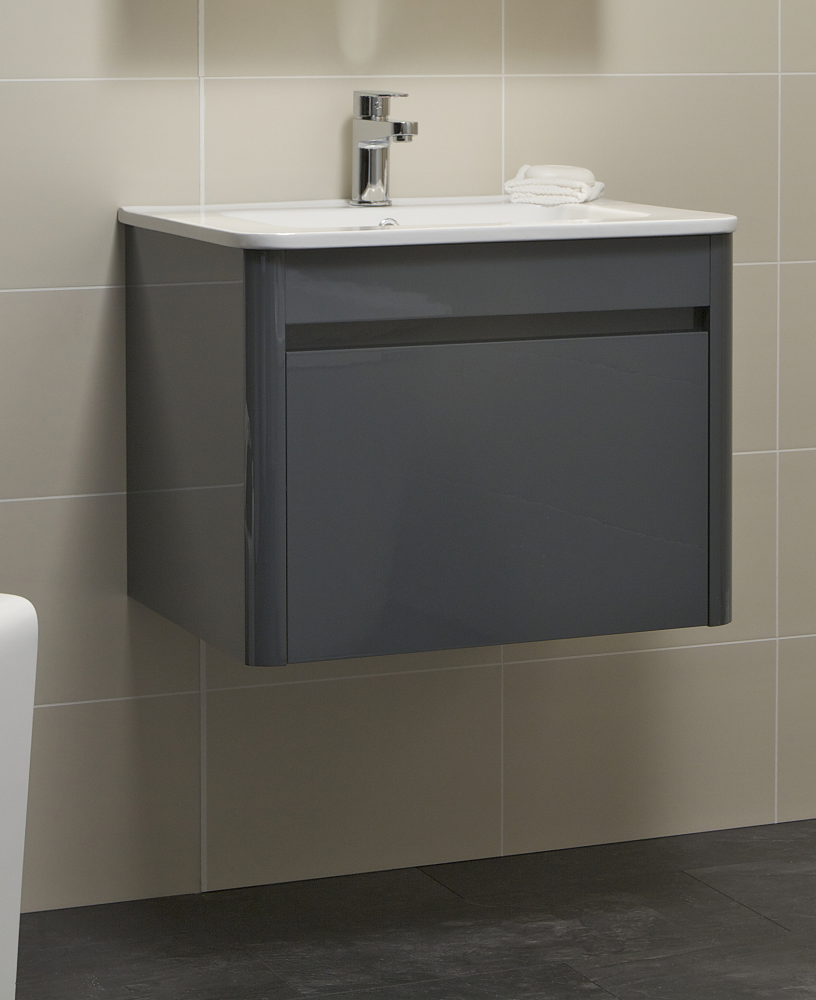 Elora 60cm Anthracite Vanity Unit and Basin - ** FURTHER REDUCTIONS