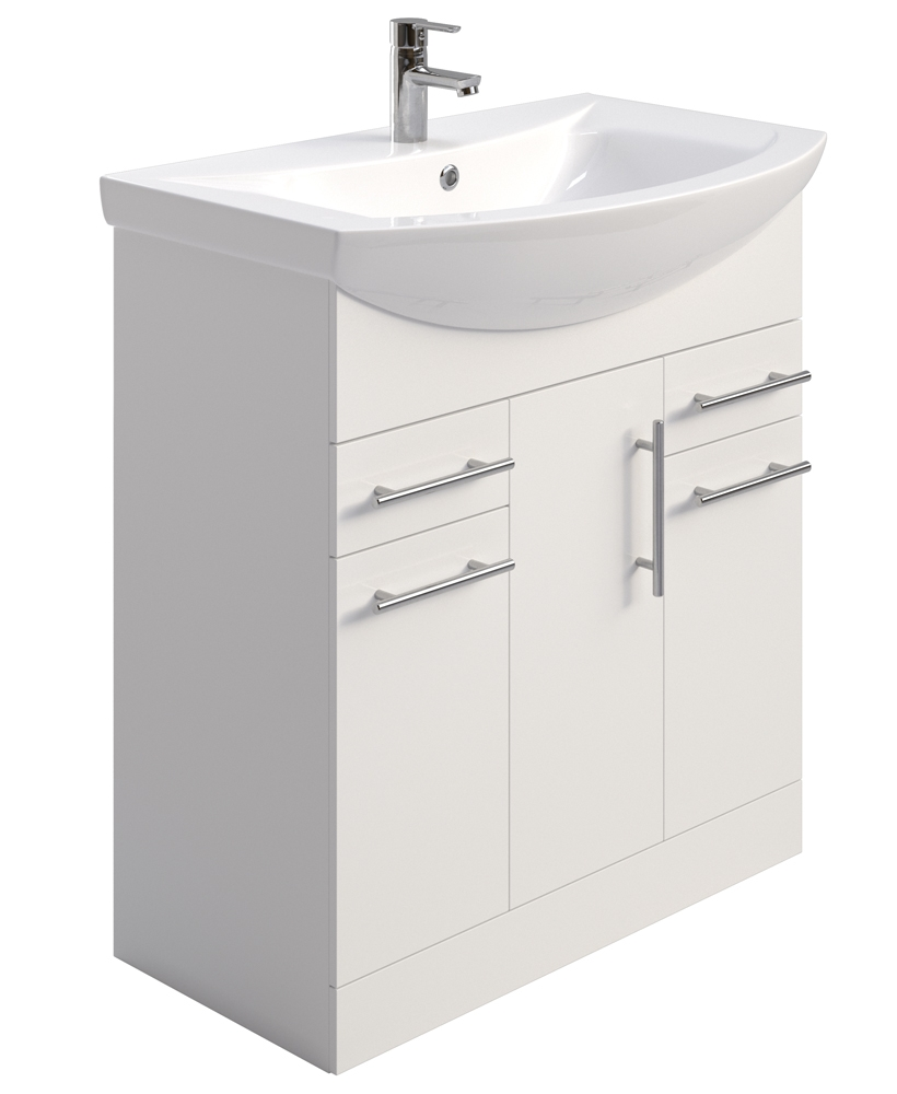 Blanco 75cm Vanity Unit & Basin - PRICE INCLUDES BASIN AND UNIT