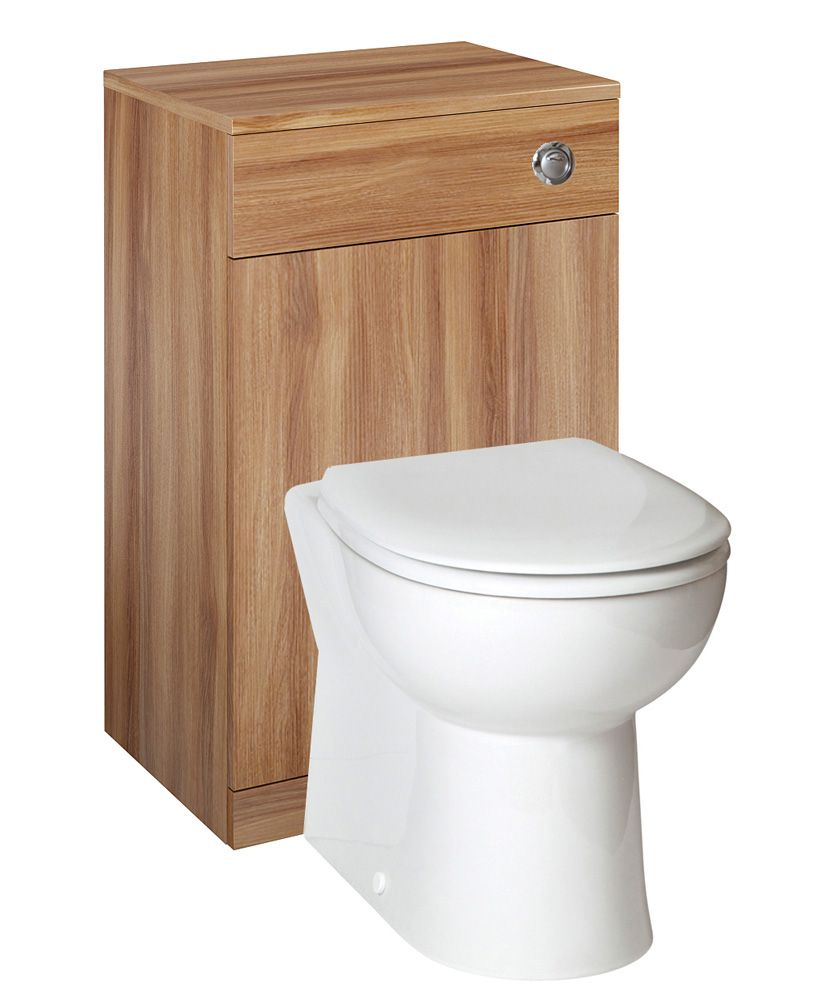 Blanco Walnut Back to Wall Unit ** Includes Concealed Cistern