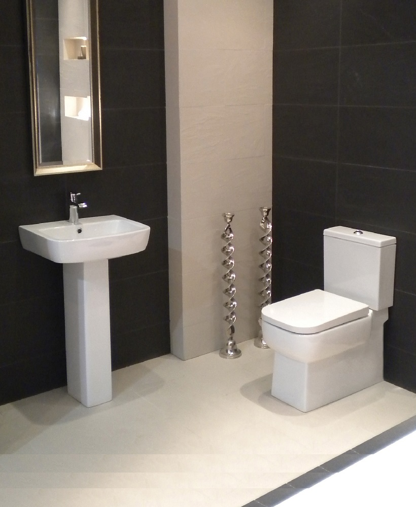 Monza Toilet and Wash Basin Set