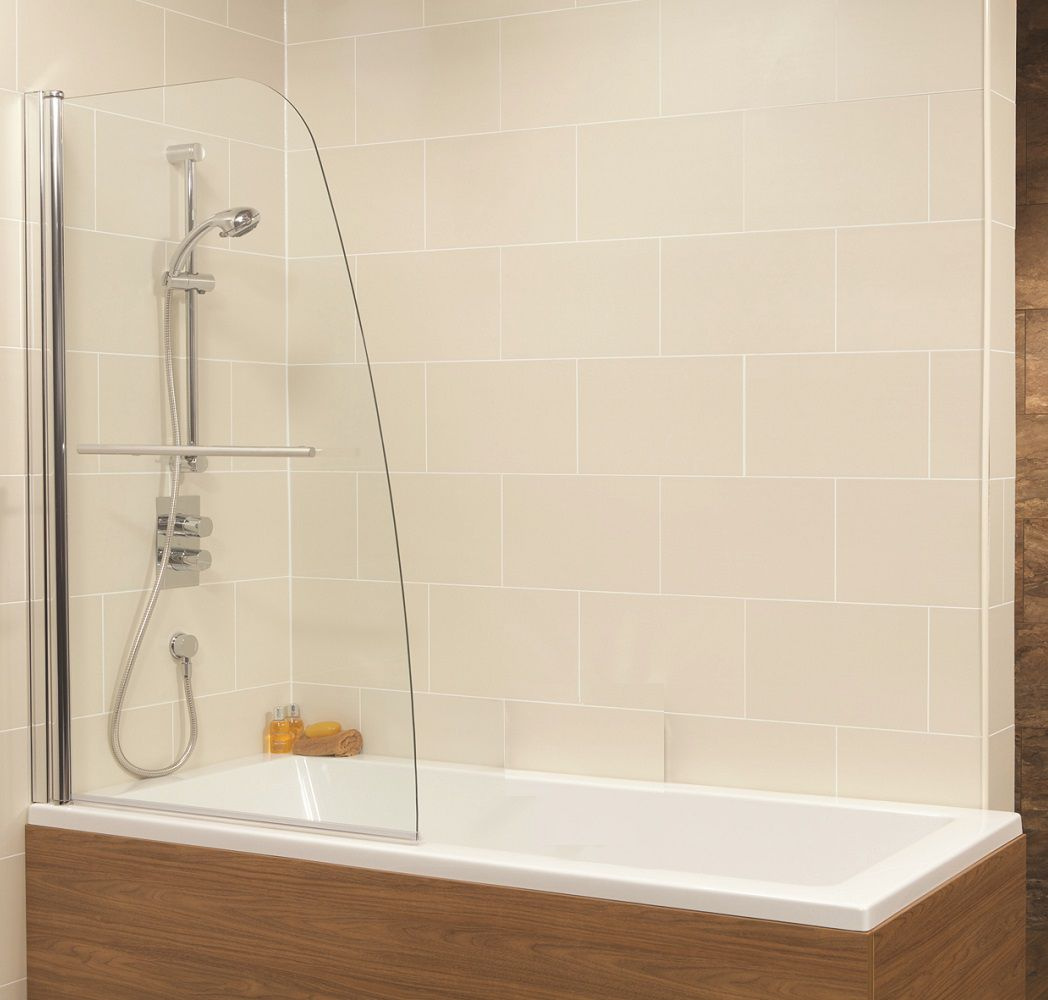 Duo Straight Single Ended 1700x700mm Bath and Shower Screen with 6mm glass - Single Panel