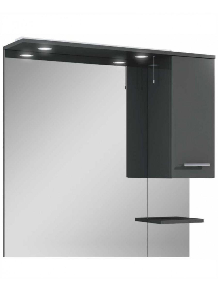 Blanco Gloss Grey 100 Mirror with LED Light & Pullcord