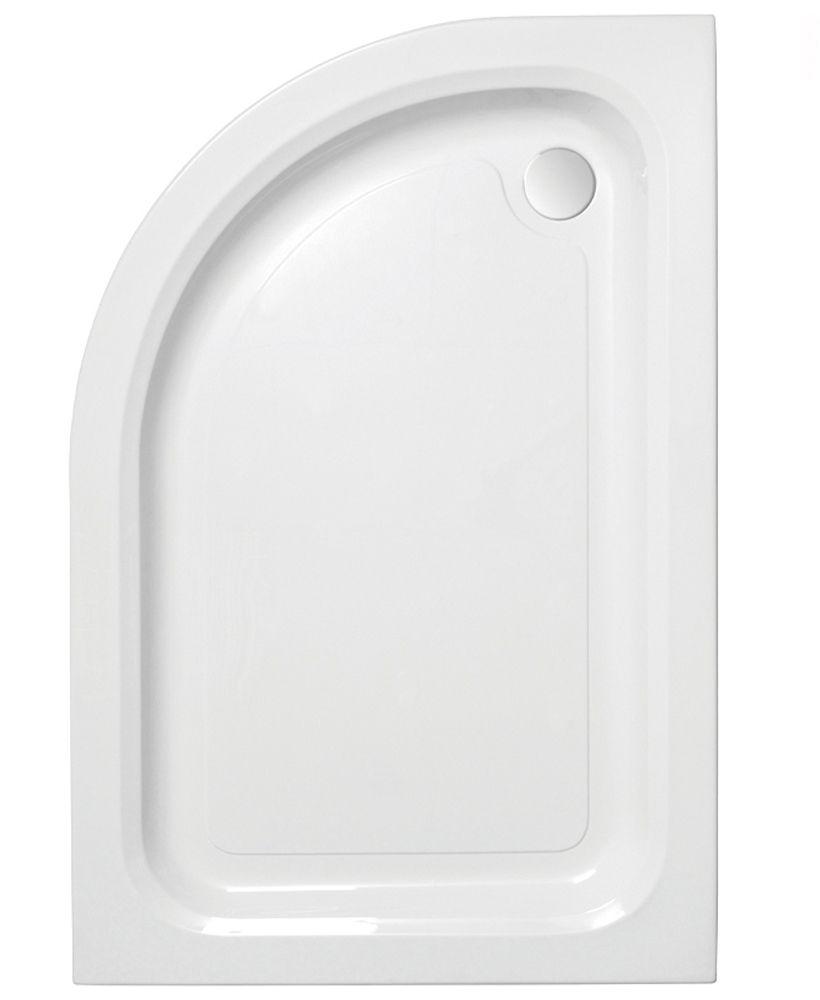 JT Ultracast 900 x 800 Offset Quadrant Shower Tray LH
